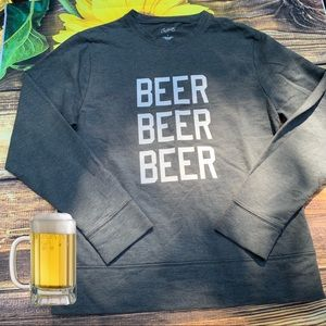 City Streets size S Small Beer gray cotton top